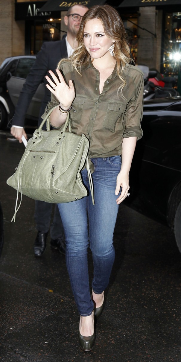 Hillary Duff arrivies at the Costes Hotel in Paris.