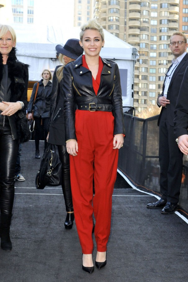 Miley+Cyrus+sports+bright+red+romper+suit+WVdZWWF3srox