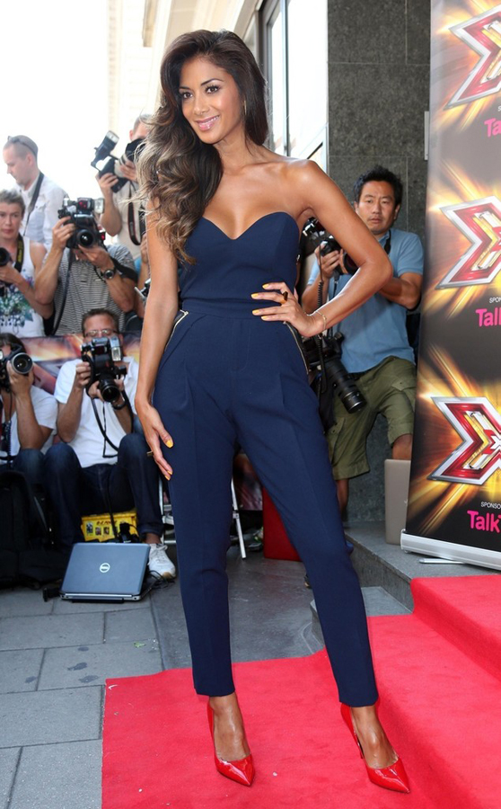 Nicole-Scherzinger-Three-Floor-Navy-Blue-Jumpsuit