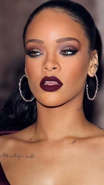 ustez3-l-610x610-make-rihanna-rihanna+red+lipstick-lips-lipstick-purple+lipstick